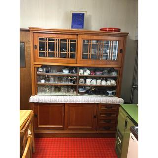 ★キャラメル様専用★ 食器棚 木製 レトロ アンティーク(キッチン収納)