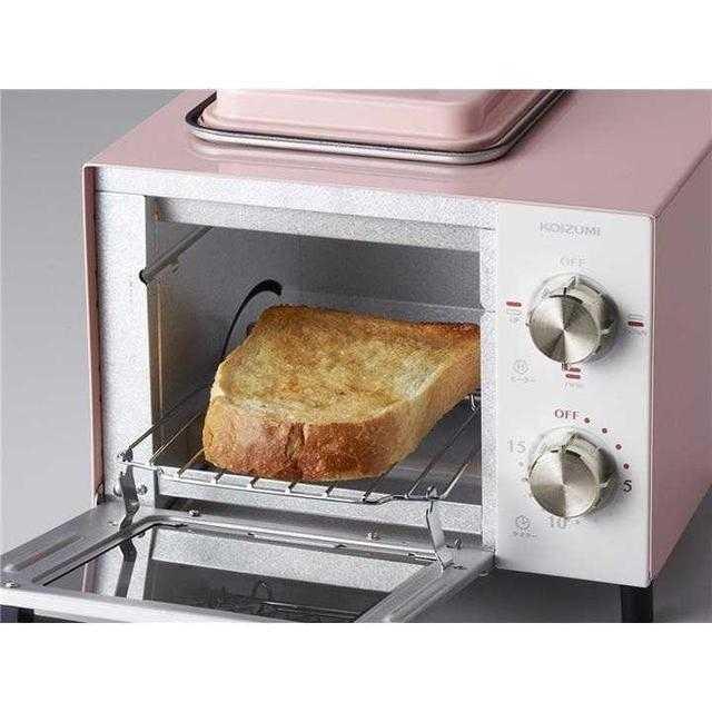 【多彩な機能♪】オーブントースター コイズミ ピンク スマホ/家電/カメラの調理家電(その他)の商品写真