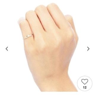 ココシュニック(COCOSHNIK)のココシュニック 重なり ダイヤ 3号 10k YG(リング(指輪))