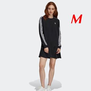アディダス(adidas)の【レディースM】黒  フェミニンなワンピース(ミニワンピース)