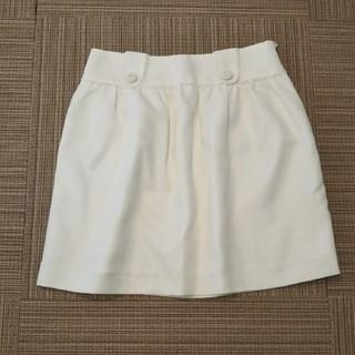レッセパッセ(LAISSE PASSE)のレッセパッセ*白スカート(ミニスカート)