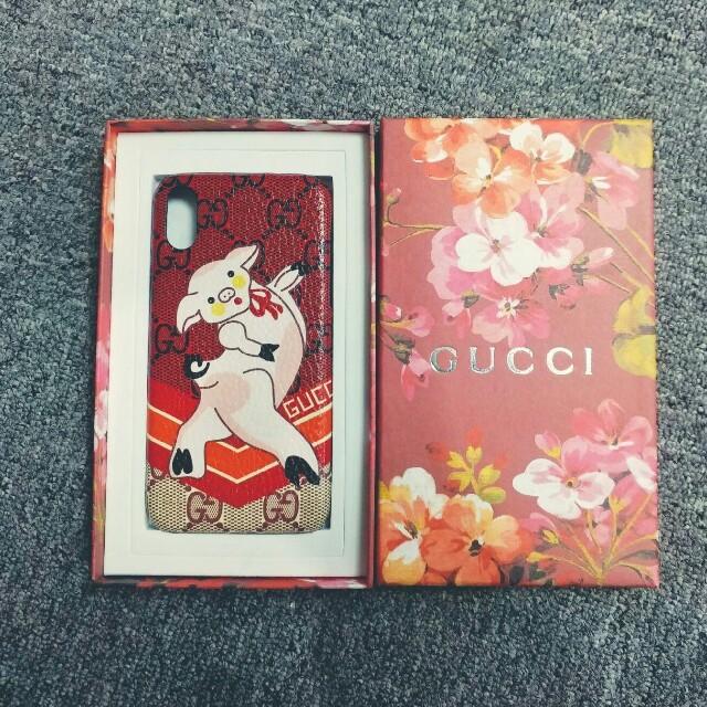 iphone8 ケース 釣り 、 Gucci - 正規品 GUCCI グッチ★iPhonX用ケース セックス豚の通販 by 💙コニー💙's shop|グッチならラクマ