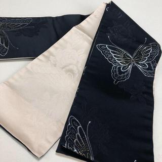 浴衣帯☆蝶と花☆3回使用 クリーニング済み(浴衣帯)