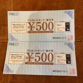 PARCOカード 優待券(ショッピング)