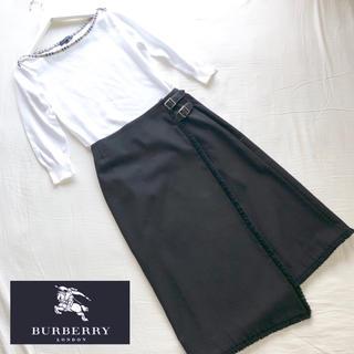 バーバリー(BURBERRY)のバーバリーロンドン トップスとラップスカート のワンピース風セットアップ(セット/コーデ)