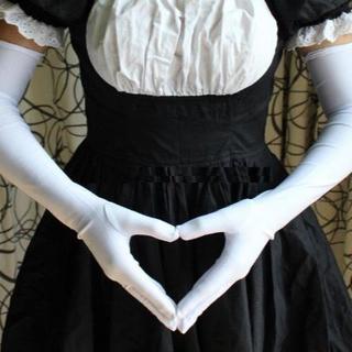 ロング手袋 コスチューム用小物 ホワイト(小道具)