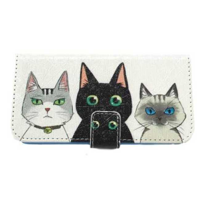 スマホケース 猫 3匹 iphone 6/6s 手帳型 かわいい 柔軟 保護の通販 by POKES ポータブルケース ラクマ店|ラクマ