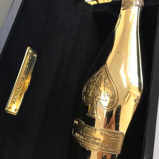 シャンパン(Xampagne)のアルマン・ド・ブリニャック ブリュット ゴールド 箱入り 空瓶(シャンパン/スパークリングワイン)