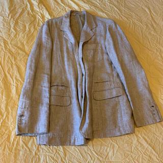 パパス麻100パーセントジャケット(テーラードジャケット)