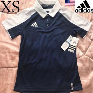 アディダス(adidas)のレア【新品】adidas USA レディース ポロシャツ XS 紺×白(ポロシャツ)