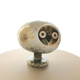イッタラ(iittala)の*売約済み* Nuutajarvi Pearl Owl バード(置物)