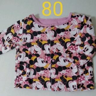 ディズニー(Disney)のミニーマウス カーディガン 80センチ(カーディガン/ボレロ)