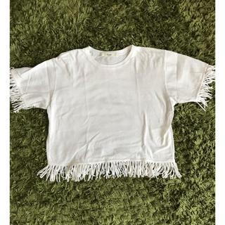 アナザーエディション(ANOTHER EDITION)のAnother Edition フリンジTシャツ(Tシャツ(半袖/袖なし))