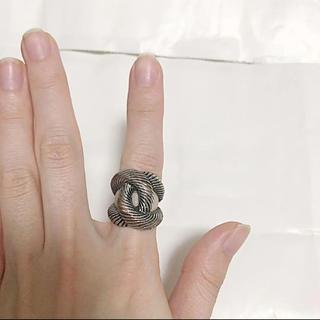 シルバー 大ぶり 指輪 ファッションリング(リング(指輪))