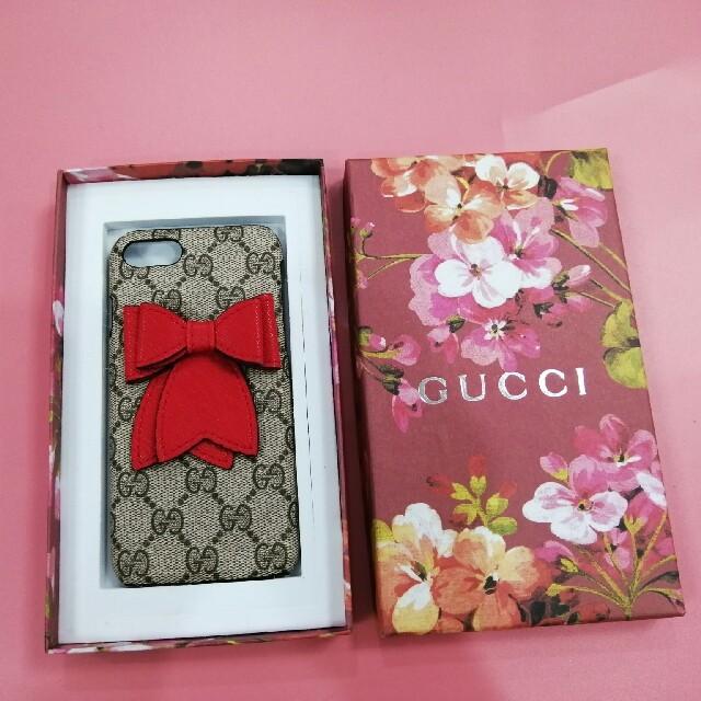 iphone 8 ケース ホワイト | Gucci - GUCCI グッチ iPhone8ケースの通販 by 上☺︎田's shop|グッチならラクマ