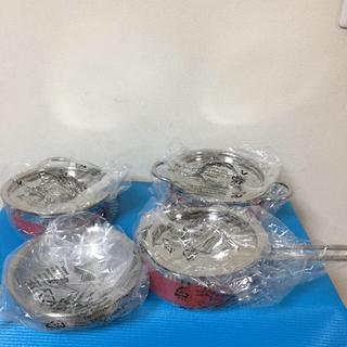 未使用☆ビタクラフト コロラドセット レッド  お手軽サイズセット(鍋/フライパン)