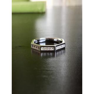 ダイヤモンドリング K18WG 計D0.11カラット(リング(指輪))