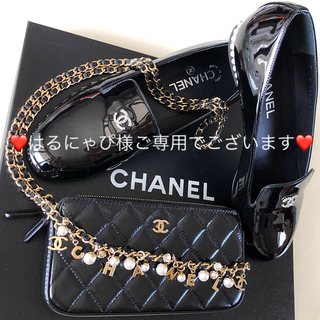 シャネル(CHANEL)の❤️シャネル❤️新品未使用✨パール付き💕ローファー39.5♪(ローファー/革靴)