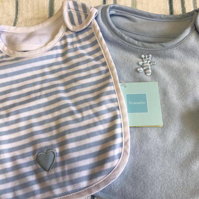 trousselier(トラセリア)のtrousselier スタイ 2枚セット キッズ/ベビー/マタニティのこども用ファッション小物(ベビースタイ/よだれかけ)の商品写真