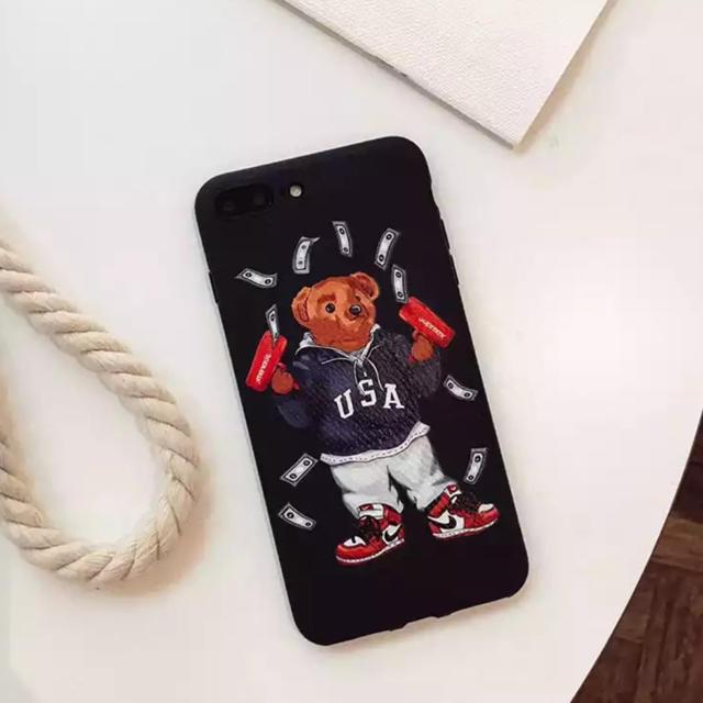 gucci iphone8 ケース tpu | 大人気★ iPhoneケース ポロベア 熊 ブランド 可愛いの通販 by リツshop 海外|ラクマ