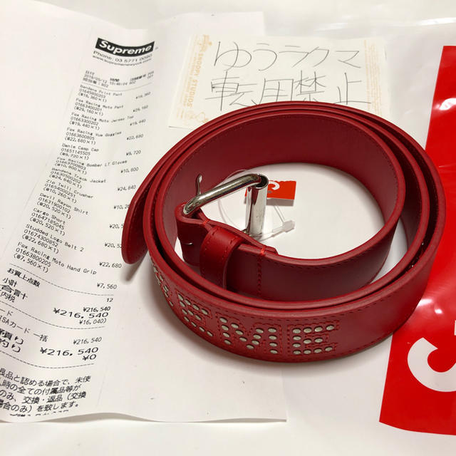 ccc9b3aea2b6 Supreme - supreme Studded Logo Belt 2 REDの通販 by ゆう s shop ...