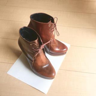ジルサンダー(Jil Sander)のJIL SANDER ウエッジショートブーツ(ブーツ)