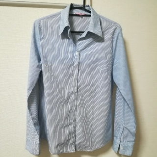 タスタス(tasse tasse)のtasse tasse 青×白のストライプシャツ 長袖ブラウス コットンシャツ(シャツ/ブラウス(長袖/七分))