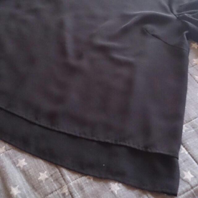 しまむら(シマムラ)のHKworksLONDODシフォン袖リボントップスブラック レディースのトップス(カットソー(半袖/袖なし))の商品写真