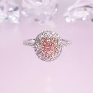 新作♡アンティーク風ピンクダイヤモンドリング(リング(指輪))