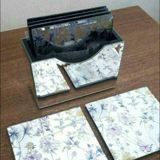 ローラアシュレイ(LAURA ASHLEY)のローラアシュレイ☆ミラーコースター☆(テーブル用品)