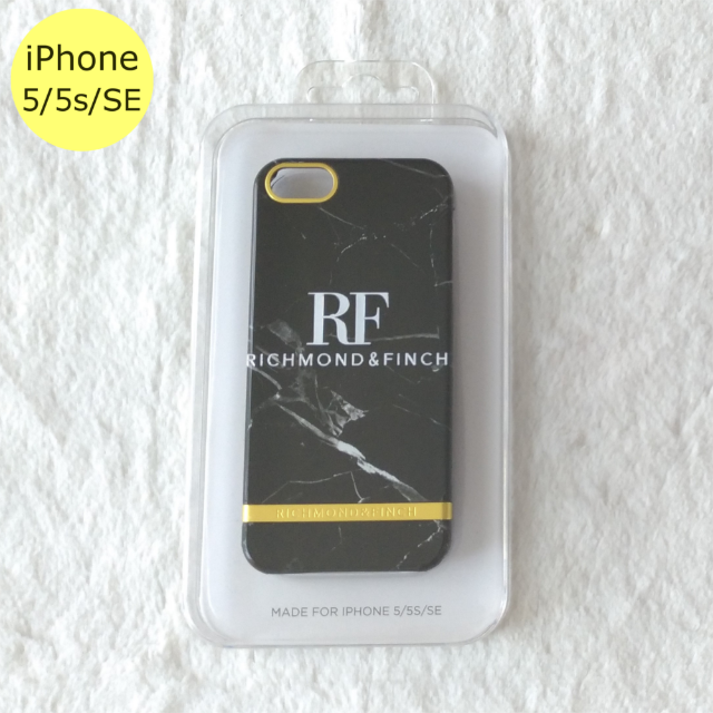 iphone ケース 7plus | Richmond & Finch マーブル iPhone5/5s/SEケース 黒の通販 by Pochi公's shop|ラクマ