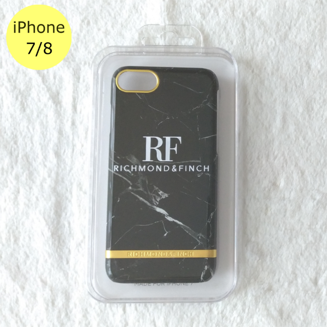 iphone7 ケース au 、 Richmond & Finch マーブル iPhone7/8ケース 黒の通販 by Pochi公's shop|ラクマ