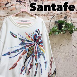 サンタフェ(Santafe)のサンタフェ 希少デザイン 刺繍 スウェット トレーナー プルオーバー 派手 奇抜(スウェット)