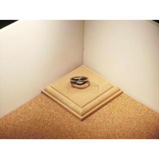 【ステンレスリング】【10号】シルバー×ブラック色 ウェーブデザイン 波型リング(リング(指輪))