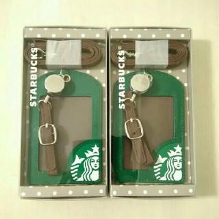 スターバックスコーヒー(Starbucks Coffee)の台湾STARBUCKS限定 パスケース2個セット 定期入れ 即購入OK(パスケース/IDカードホルダー)