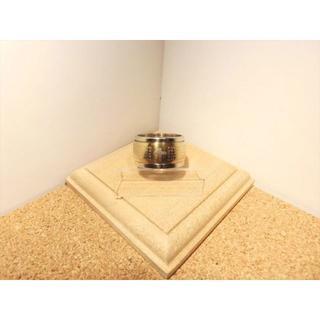 【ステンレスリング】【13号】シルバー×ゴールド色 聖書・十字架 フチ付き甲丸(リング(指輪))