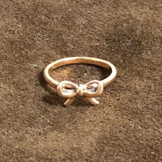ノジェス(NOJESS)のノジェス  リボン ピンキーリング K10 1号(リング(指輪))