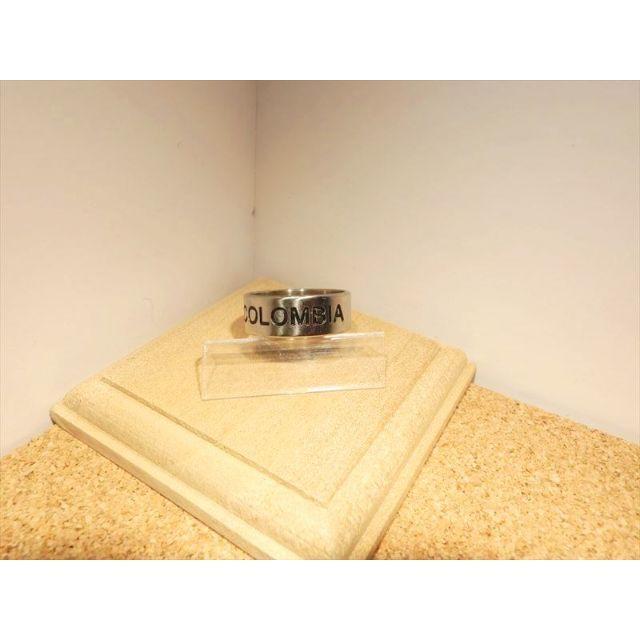 【ステンレスリング】【16号】コロンビア国旗 COLUMBIA彫り シルバー色 メンズのアクセサリー(リング(指輪))の商品写真
