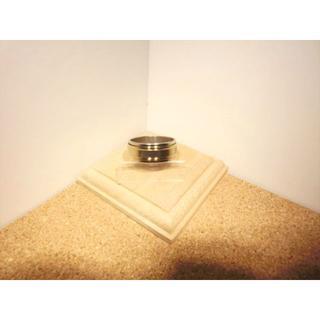【26号】二重構造の裁断デザインリング シルバー×ゴールド色【ステンレスリング】(リング(指輪))