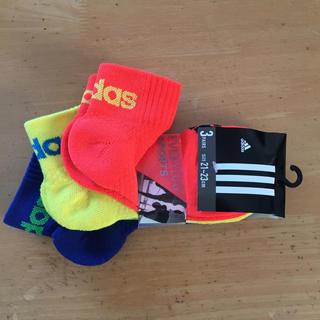 アディダス(adidas)の専用  スニーカーソックス23-25センチ3足組(ソックス)