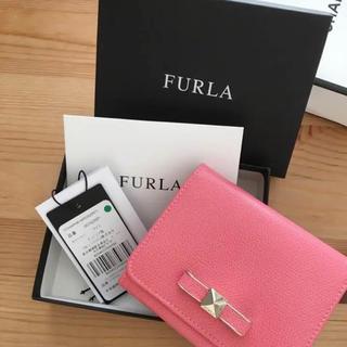 2ab73731fb93 フルラ(Furla)のFURLA フルラ 三つ折り財布 ピンク リボンモチーフ レザー(財布