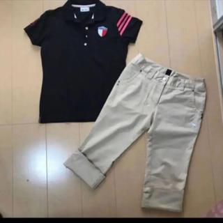 アディダス(adidas)のアディダスゴルフ 半袖 ポロシャツ 、プーマゴルフ 七部丈 ズボン Mサイズ(ウエア)