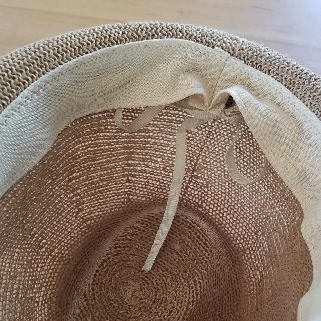 antiqua(アンティカ)の値下げ キッズ ストローハット  キッズ/ベビー/マタニティのこども用ファッション小物(帽子)の商品写真