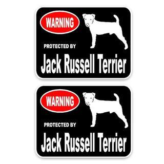 ジャックラッセルテリア ステッカー2枚セット♪ 新品未使用品 002(犬)