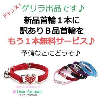 猫用首輪 ねこ首輪 小型犬用首輪 訳ありB品首輪を1本サービス♪ 004(猫)