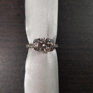 Pt950 ダイヤモンド リボン リング(リング(指輪))