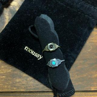 マウジー(moussy)の掲載品 2点セットmoussy マウジー ピンキーリング ターコイズ ブラック(リング(指輪))