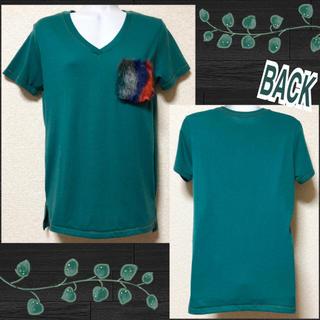 ファンキーフルーツ(FUNKY FRUIT)の【新品】MIXカラーファーポケット付Tシャツ(Tシャツ(半袖/袖なし))