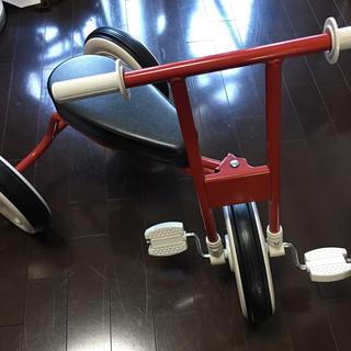 MUJI (無印良品) - 無印良品 三輪車 レッド 室内使用 美品!