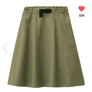ジーユー(GU)のGU GIRLS 大型店商品ウエストベルトスカート140(スカート)